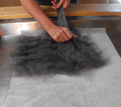 wet felting with gotland wool at the Woolshed Canaan, Takaka Hill, New Zealand