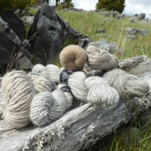 Undyed, natural yarn