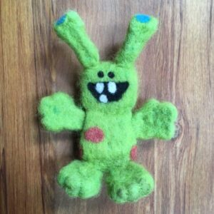 needle felting kit monster carded wool new zealand woolshed canaan