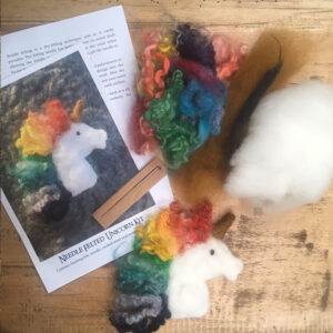 Make your own unicorn with our needle felting kit, Woolshed Canaan New Zealand