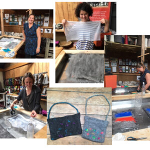 Wet felting workshop woolshed canaan New Zealand