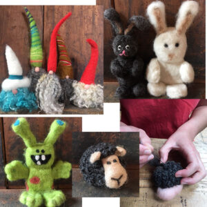 needle felt workshop woolshed canaan new-zealand